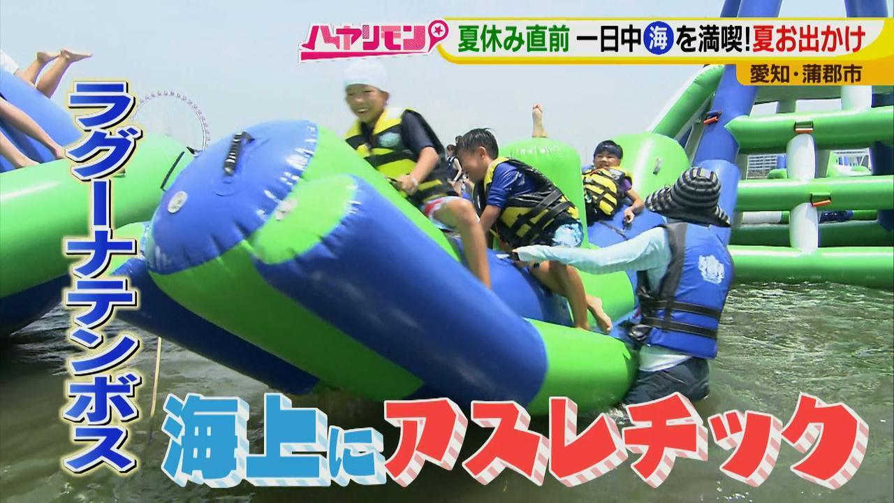 画像5: 朝から晩まで!一日中、海で遊べる蒲郡へ 日本最大級の海上アスレチックもオープン♪