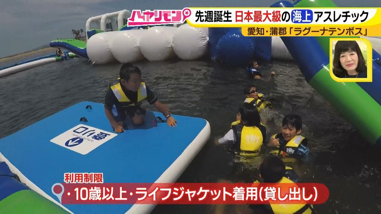 画像4: 朝から晩まで!一日中、海で遊べる蒲郡へ 日本最大級の海上アスレチックもオープン♪