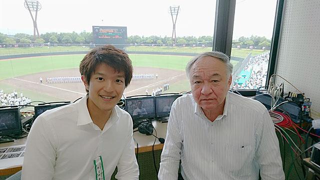 画像: 解説の愛知大学野球部総監督 櫻井智章さんと