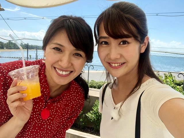 画像: 琵琶湖が見えるパン屋にて。
