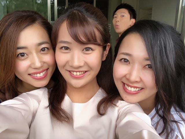 画像: 上坂アナはひょっこりはん(笑)