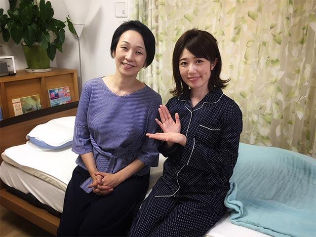 画像: 「女子ハピ」でご一緒した快眠セラピストの三橋美穂さん。 アドバイスにのっとり、パジャマも新調しました!