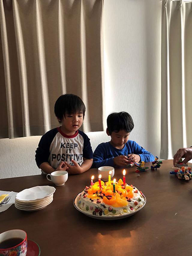 画像: 甥っ子たちが私の為に作ってくれたバースデーケーキ&歌…