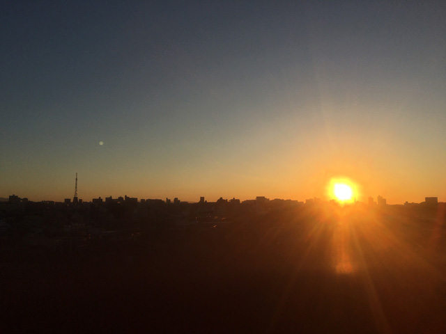 画像: 名古屋の街から見た、初日の出です。