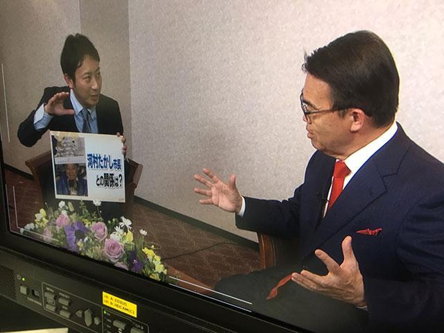 画像: 当選(3期目)直後の大村秀章知事へのインタビュー