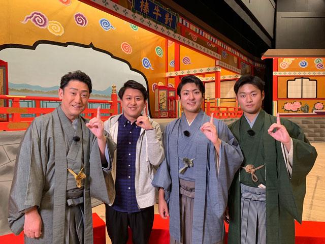 画像: 中村芝翫さん、橋之助さん、福之助さん親子。 上坂アナのインタビュー終わりに撮っていただきました。