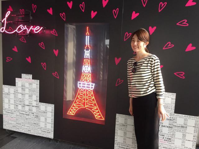 画像: 東京タワーとの写真スポット発見。