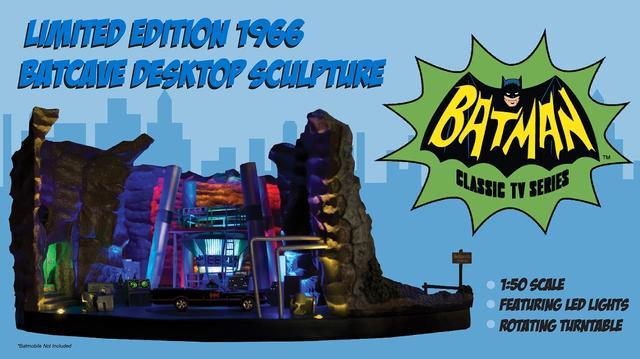 画像5: 実写版テレビドラマ『バットマン』シリーズから、ウェイン邸の地下の基地「バットケーブ」が1/50スケールにてスカルプチャー化!