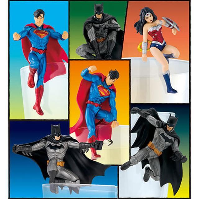 画像: コップのふちに飾って楽しむ スーパーマン、バットマン、ワンダーウーマン 「ジャスティス・リーグ」の面々が登場!