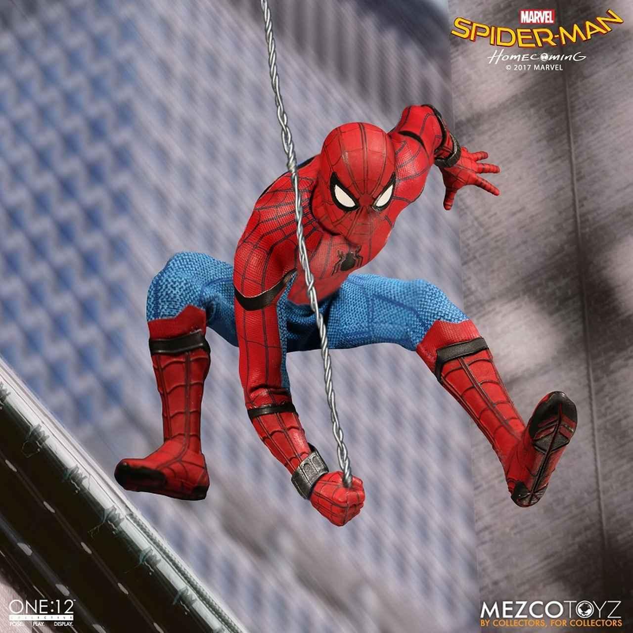 画像3: 若いスパイディ用の新型の細身ボディ素体、スパンデックス製のコスチュームなど、劇中で見せる姿を忠実に再現!  「スパイダーマン ホームカミング」 アクションフィギュア発売!