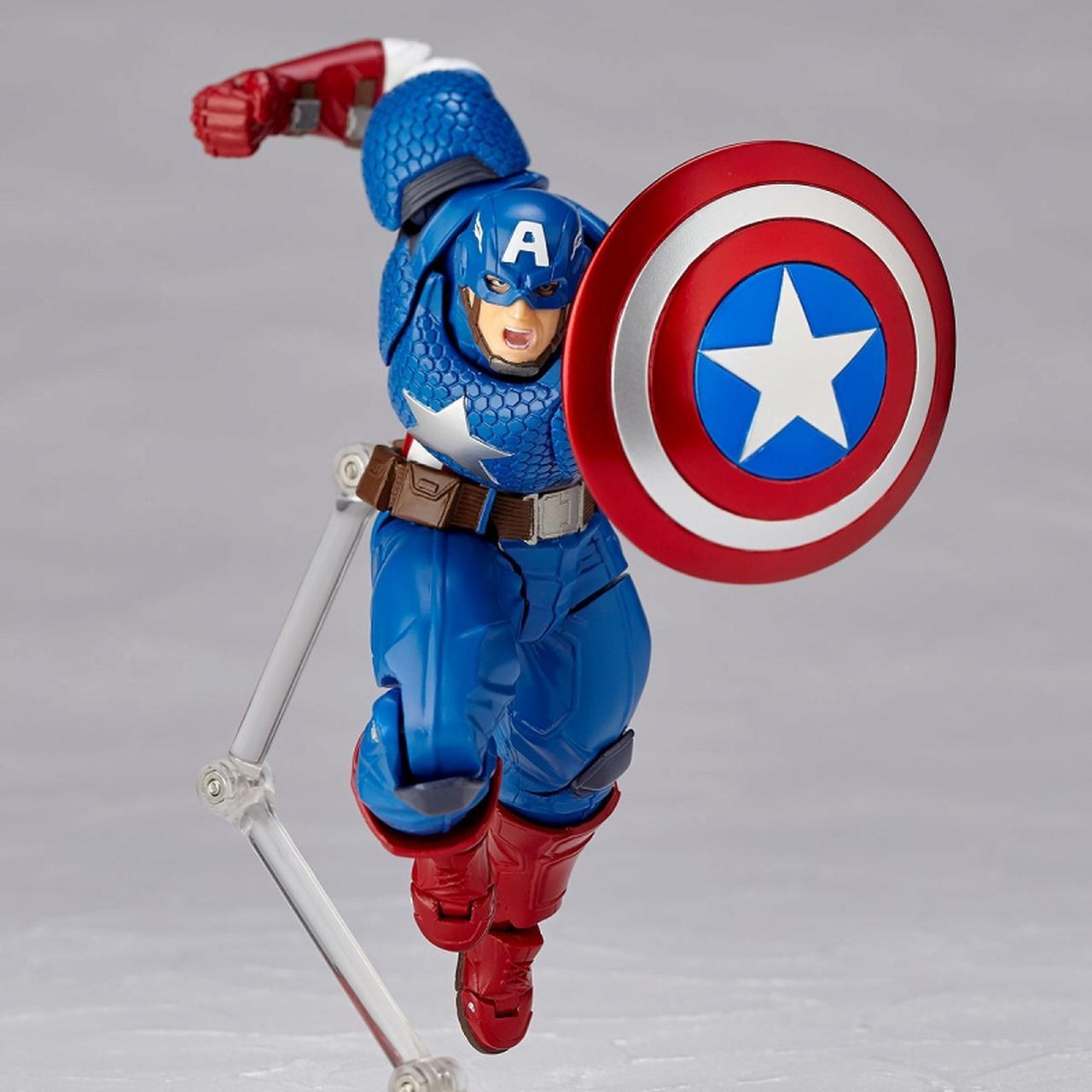 画像2: 海洋堂が誇る可動フィギュア《リボルテック》10周年の節目に 「キャップ」ことキャプテン・アメリカが登場!