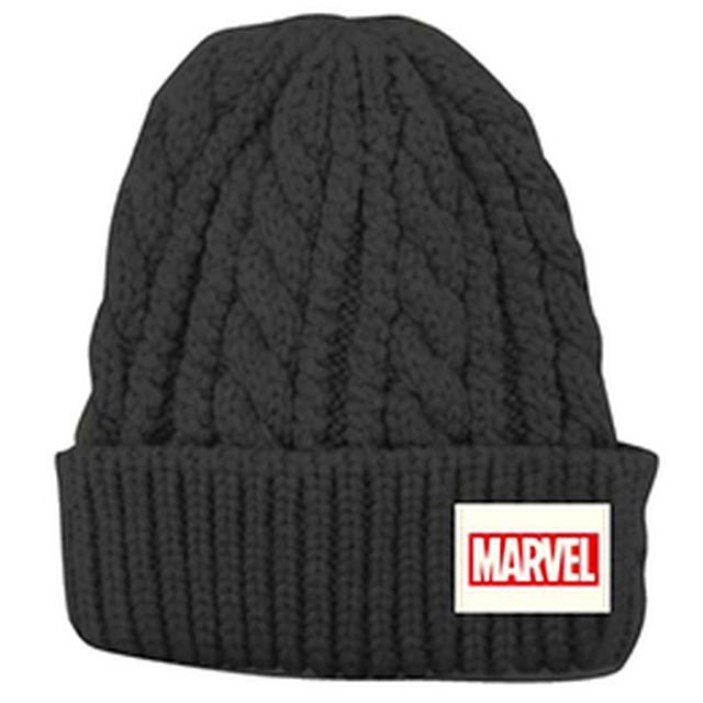 画像: 【入荷済】「MARVEL マーベル」 ケーブルニットキャップ ロゴ(ブラック) | すべての商品 | SCREEN STORE