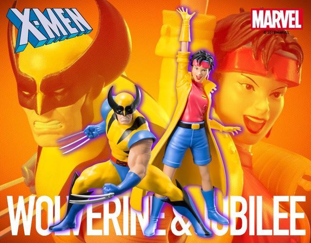 画像1: これぞX-MEN! クラシックなウルヴァリンと発火エナジーブラストを操るジュビリーがアニメカラーで立体化!