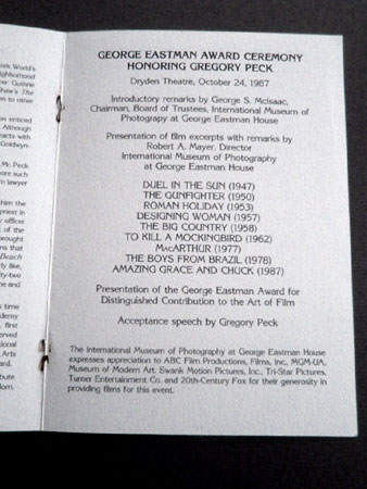 画像4: オードリー・ヘプバーン/直筆オートグラフ (ジョージ・イーストマン賞授賞式プログラム)