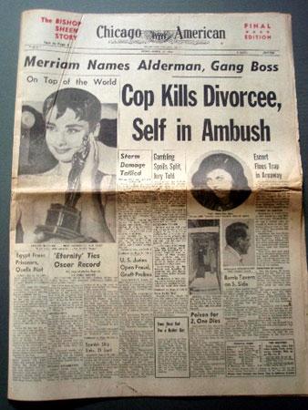 画像2: オードリー・ヘプバーン/「ニュース・ペーパー」シカゴ・デイリー他(1954年3月26日付)第26回アカデミー賞発表