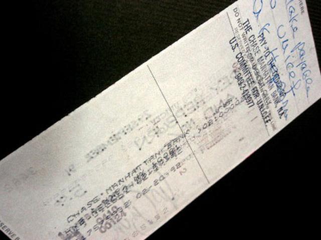 画像2: オードリー・ヘプバーン/1991年(ユニセフ公務)実使用直筆サイン入り小切手