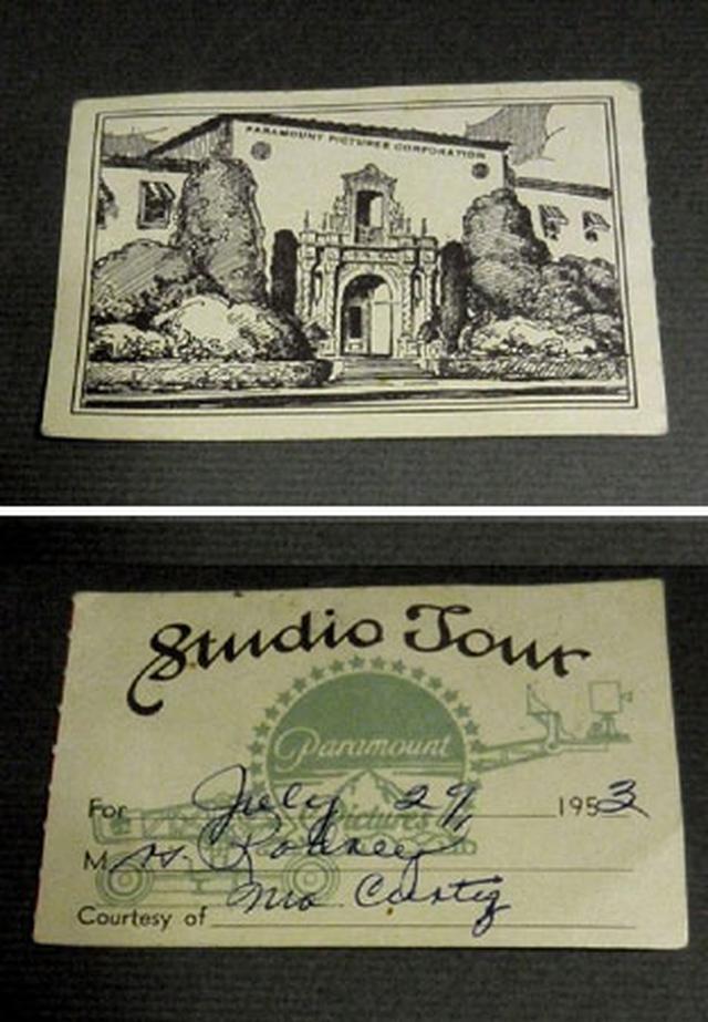 画像4: 「オードリー・ヘプバーン/パラマウント映画社社内報・スタジオ・ツアーパス(1950年代)