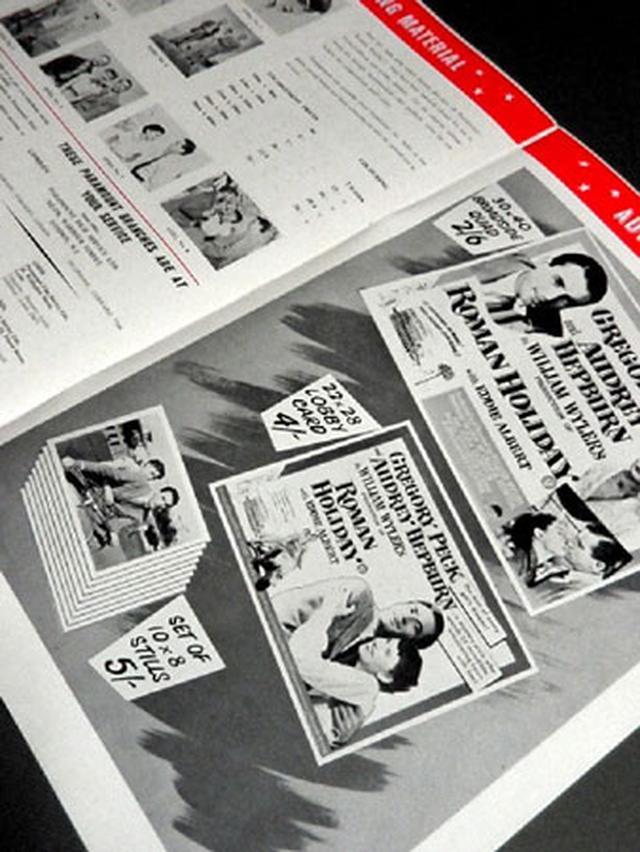 画像2: 「ローマの休日」/イギリス版 初公開(1953)プレスブック