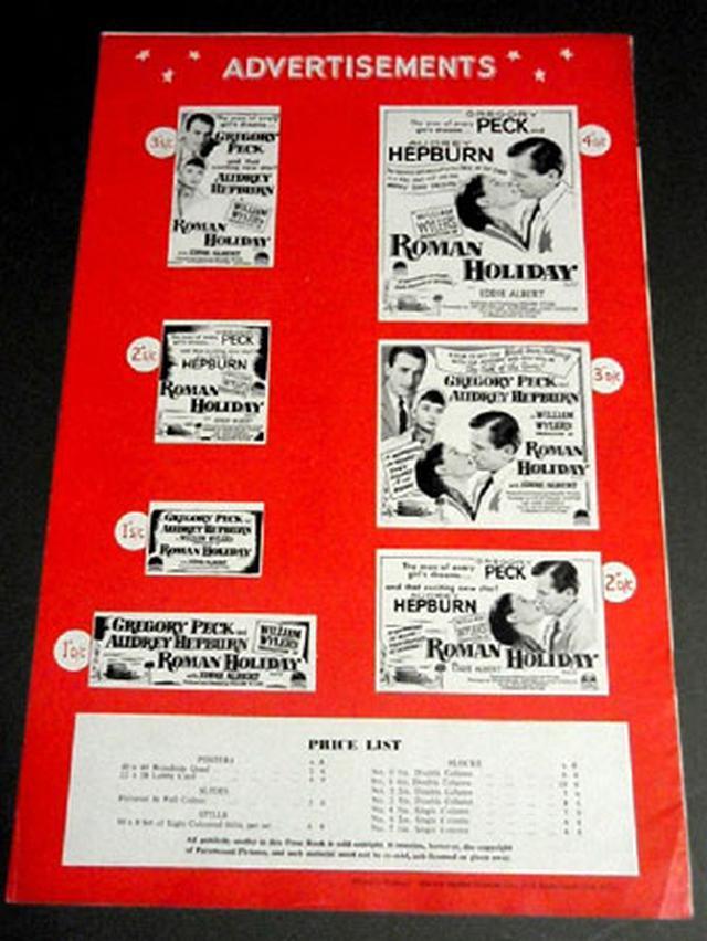 画像1: 「ローマの休日」/イギリス版 初公開(1953)プレスブック