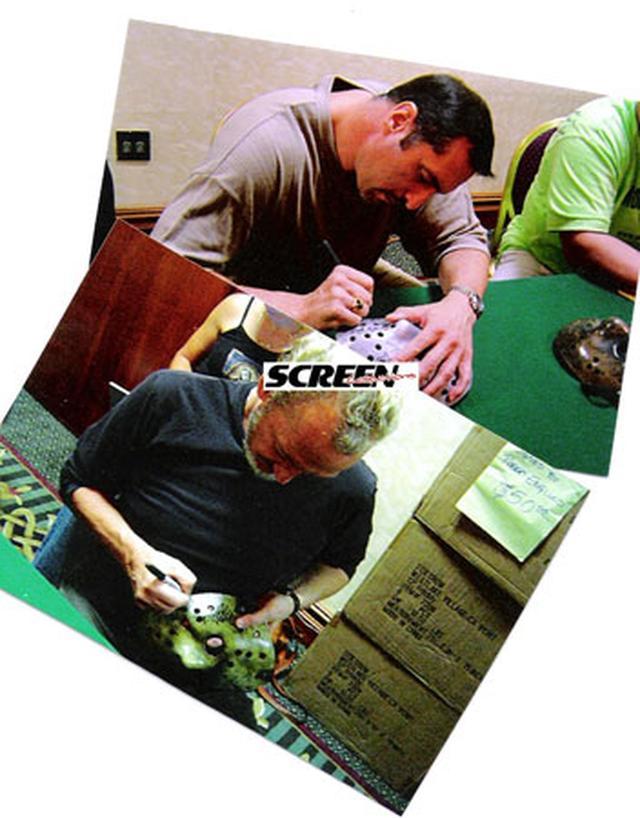 画像4: 「フレディVS.ジェイソン」/ジェイソン・ホッケーマスク(レプリカ/直筆サイン入り)