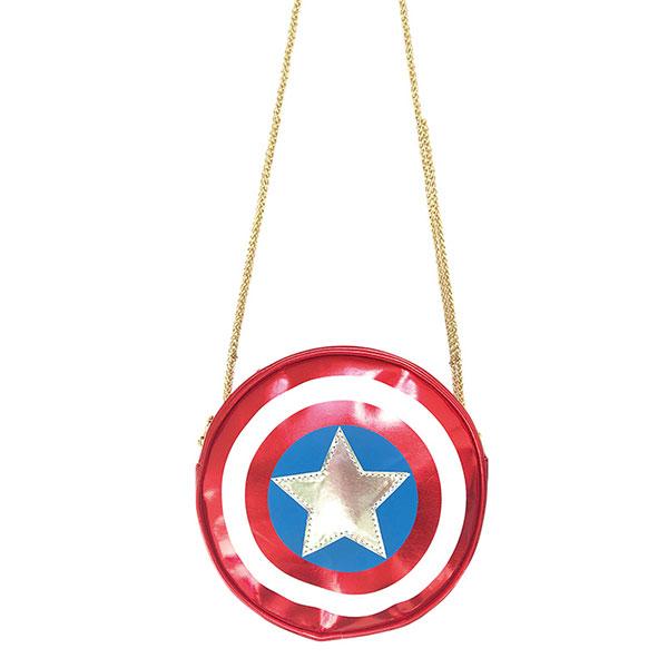 画像: 「 MARVEL 」丸型バッグ/キャプテン・アメリカ/シールド