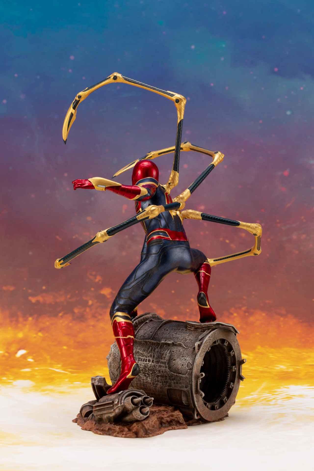 画像3: 「アベンジャーズ/インフィニティ・ウォー」のアイアン・スパイダーがコトブキヤのARTFXとして登場!