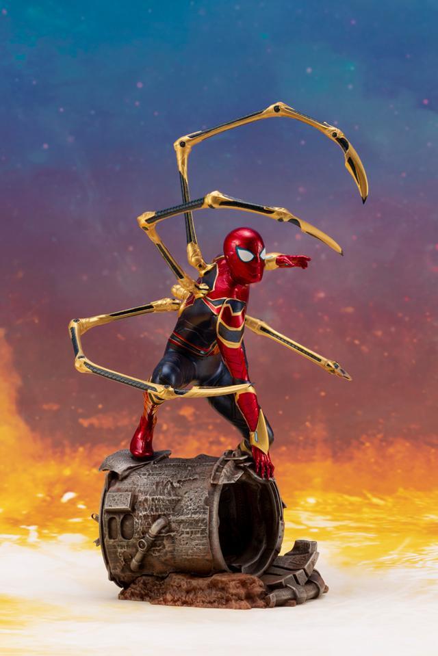 画像2: 「アベンジャーズ/インフィニティ・ウォー」のアイアン・スパイダーがコトブキヤのARTFXとして登場!