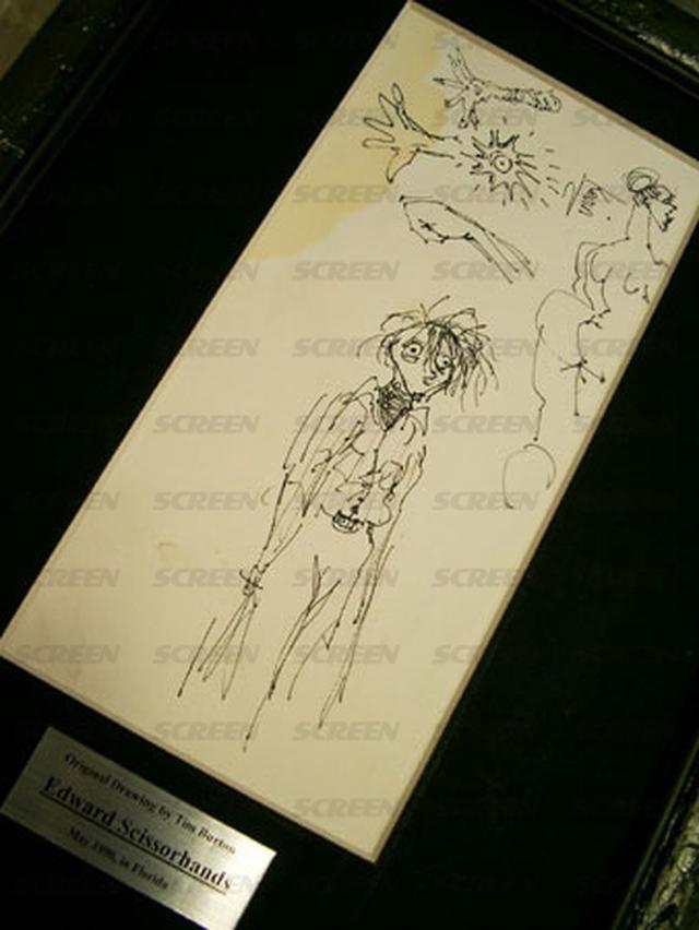 画像2: 「シザーハンズ」 ティム・バートン監督直筆 ドローイング(1990年)
