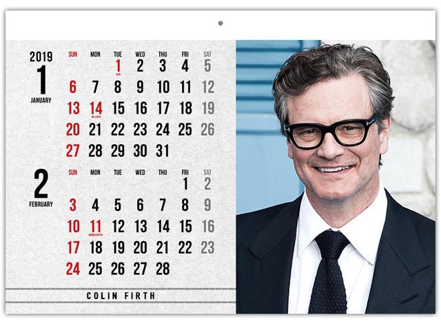 画像: コリン・ファース、トム・ヒドルストン、アラン・リックマン他 英国男優カレンダー2019が特別価格で手に入る!