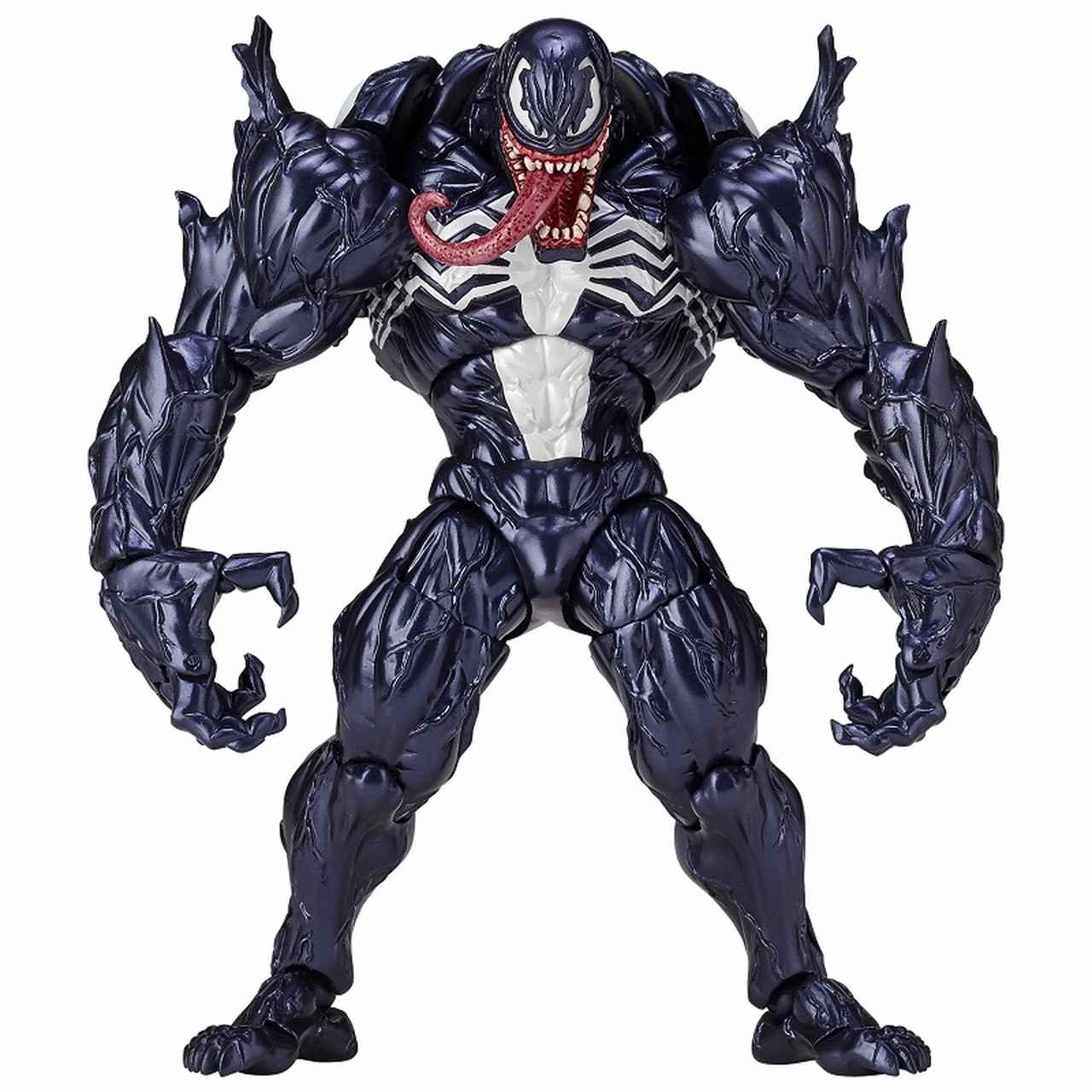 画像1: 「ヴェノム」の幅広い可動域を実現したリボルテックが再販決定! スパイダーマンを一回り大きくしたボディサイズはど迫力!