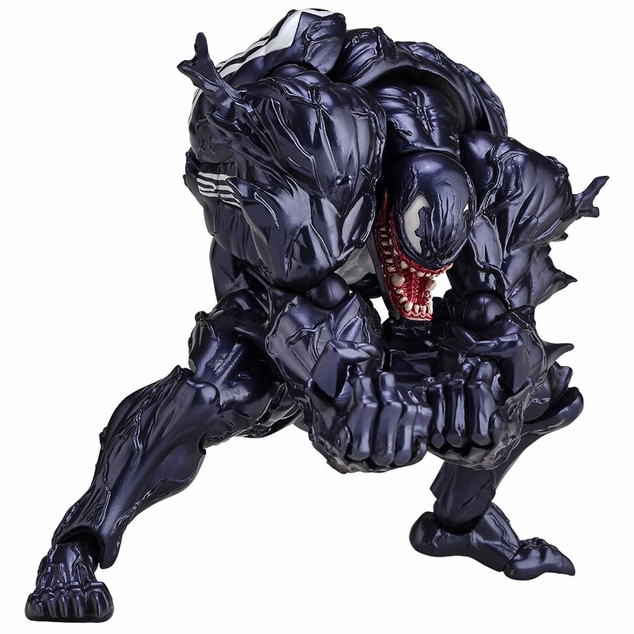 画像4: 「ヴェノム」の幅広い可動域を実現したリボルテックが再販決定! スパイダーマンを一回り大きくしたボディサイズはど迫力!