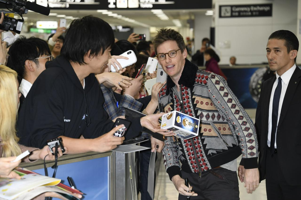 画像: 成田に着いたエディー