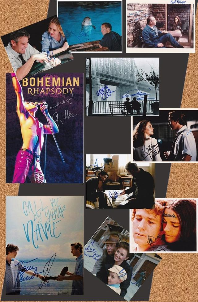 画像: 「ある愛の詩」、「グラン・ブルー」、「ライフ・イズ・ビューティフル」、「ボヘミアン・ラプソディ」等々—— それぞれの時代を彩る屈指の名作群から、豪華キャストによる直筆オートグラフをフル・ラインナップ!