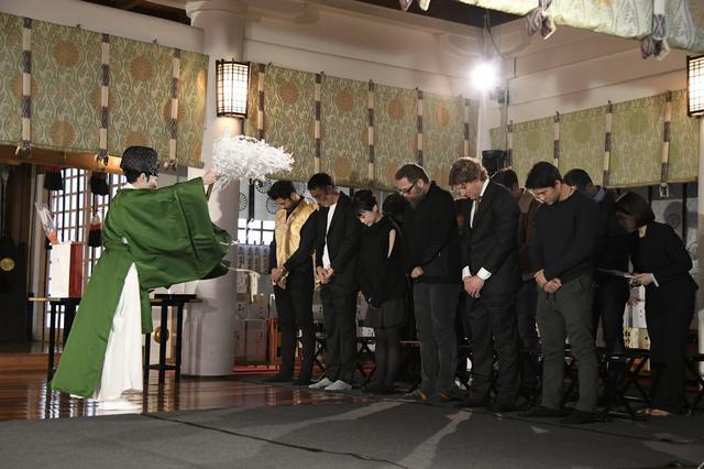 画像: 日枝神社で成功を祈って御祈祷も。
