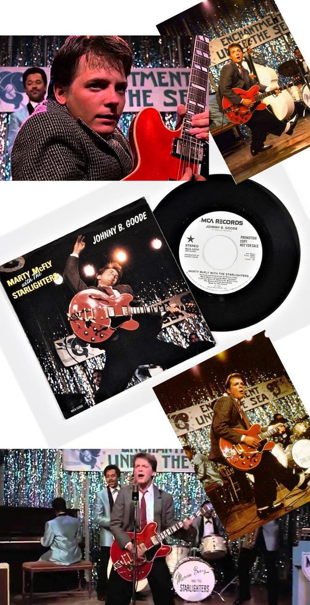 """画像: ★「バック・トゥ・ザ・フューチャー」(1985)/""""JOHNNY B.GOODE""""プロモーション用限定EPレコード(限定非売品)"""