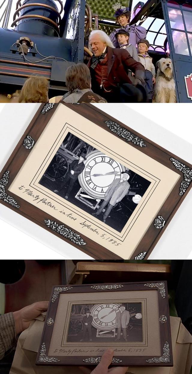 画像: ★「バック・トゥ・ザ・フューチャーPART3」(1990)/エメット・ブラウン博士からマーティへ贈られたメモリアル・フォトフレーム(限定レプリカ)