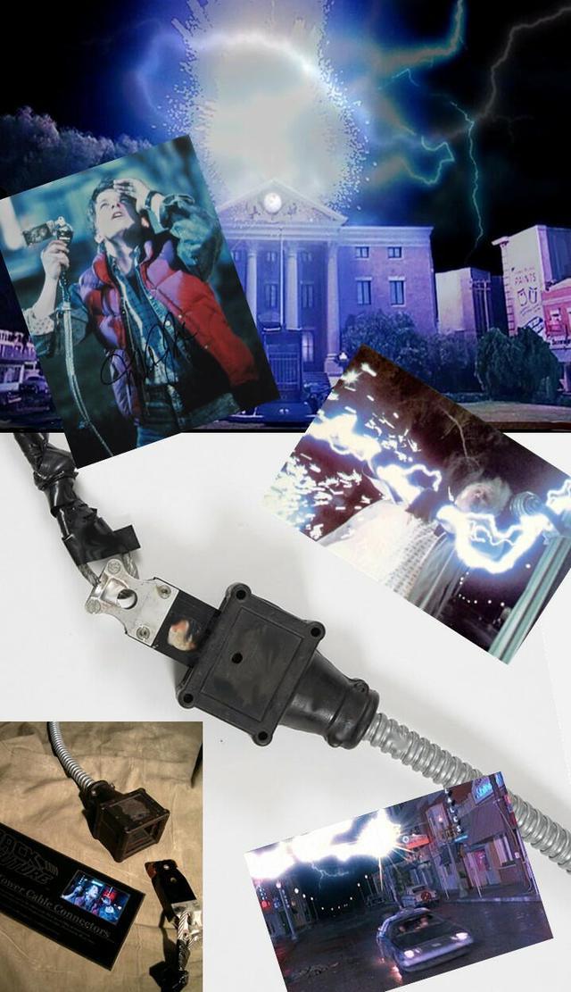 画像: ★「バック・トゥ・ザ・フューチャー」(1985)/<ヒル・バレー時計台/デロリアン>ケーブル・コネクター(実使用)