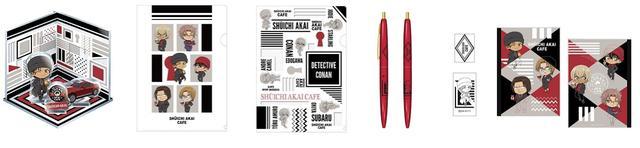 画像: アクリルジオラマ、 クリアファイル 2種、 BICボールペン、 B5ノート