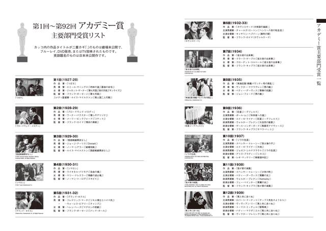 画像: アカデミー賞リストは最新受賞作も収録