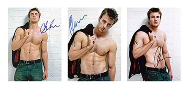 画像: 【期間限定発売】 クリス・エヴァンス 複製サイン入りポートレート3枚セット 《送料無料》