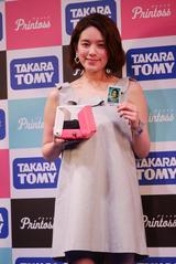 画像: やっぱりカワイイ筧さん。ピンク(SAKURA)の「プリントス」がとってもお似合い。