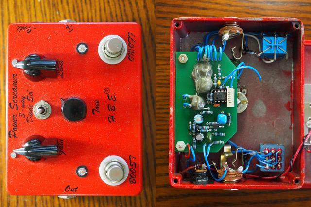 画像: H.B.E. Power Screamer: 樹脂で固められた部分は「コピー防止」対策。使用パーツを隠すことでマネされないようにするため。ハンドメイド系ではよくある。