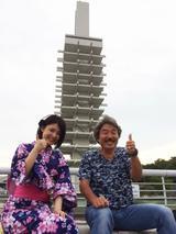 画像: 写真家・阿部秀之さんと、浴衣美人の古崎瞳さん。
