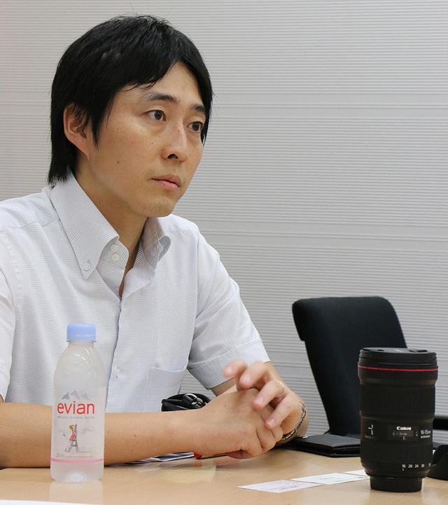 画像: 【EFレンズ商品企画担当】島田正太氏(ICP第一事業部)。