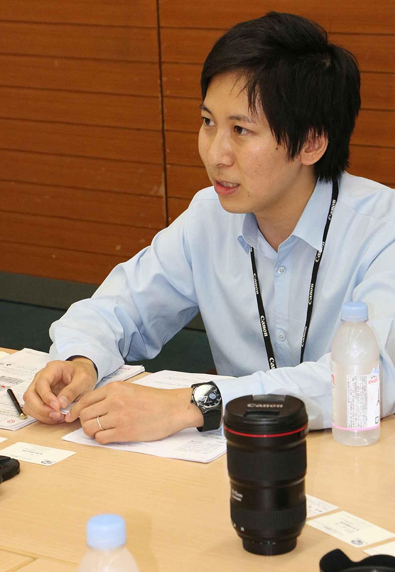 画像: 【EFレンズ商品企画担当】山口聖吾氏(ICP第一事業部)。