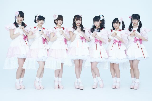 画像: ▲Ange☆Reve(アンジェレーヴ)は7人組のユニット。左から(敬称略)水野結愛、吉橋亜理砂、松脇朱里、佐々木璃花、渡辺くるみ、橘はるか、さいごうみずき。