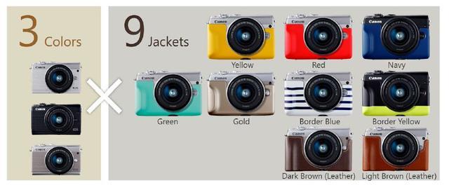 画像: ▲3タイプのボディカラーと9種類のフェイスジャケットの組み合わせで27通りのスタイルが作れる。ただしフェイスジャケットはキヤノンオンラインショップの限定販売となっている。 cweb.canon.jp