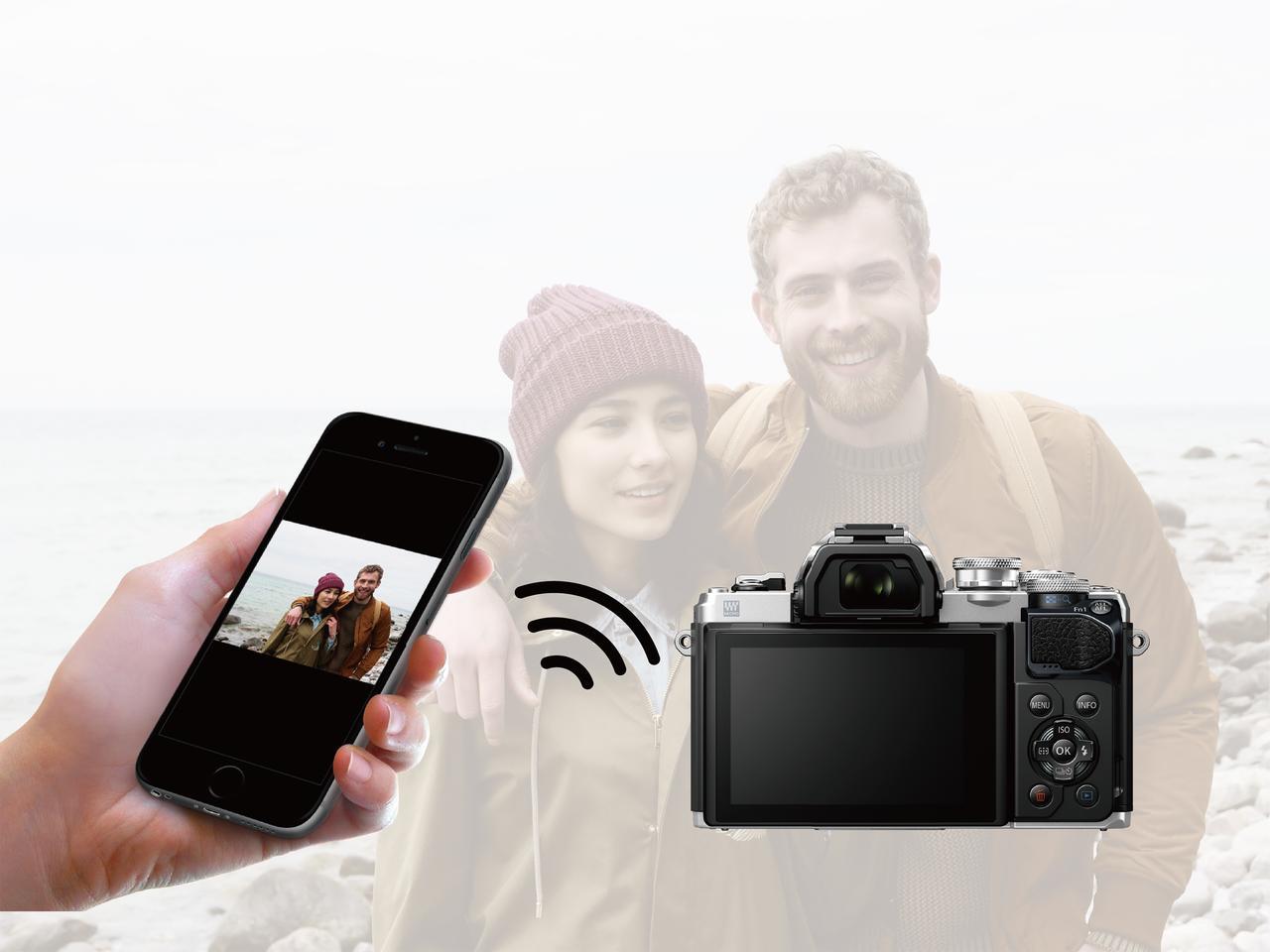 画像: ▲簡単な設定で撮影した画像をすぐにスマホへ転送、そしてSNSなどへアップできるのは便利だ。 www.olympus-imaging.jp