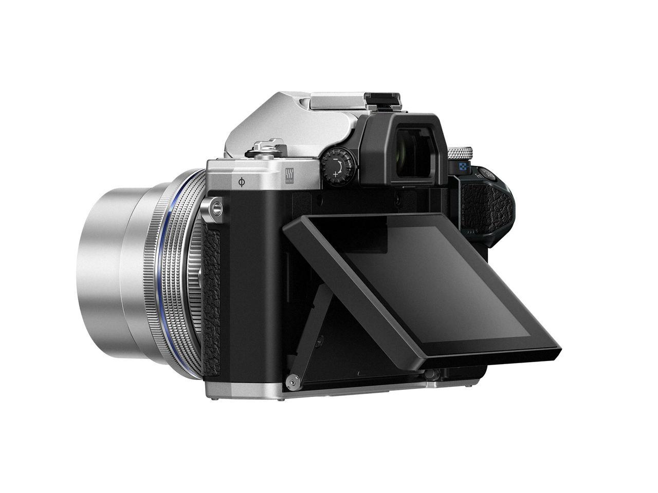 画像: ▲チルト式液晶モニター調整角度はカメラ背面に対して上が約 85 度、下が約 45 度。ライブビュー時のローアングル&ハイアングル撮影時に便利だ。 www.olympus-imaging.jp