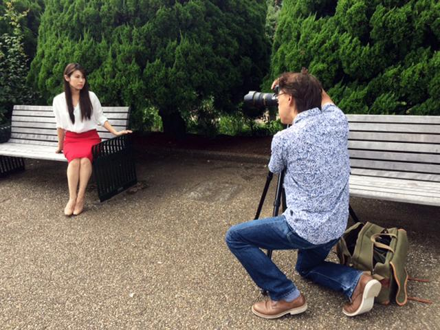 画像: 今回は横浜の港の見える丘公園で撮影。10月20日をお楽しみに!!